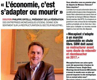 Presse : Interview du Président dans l\'Observateur de Monaco
