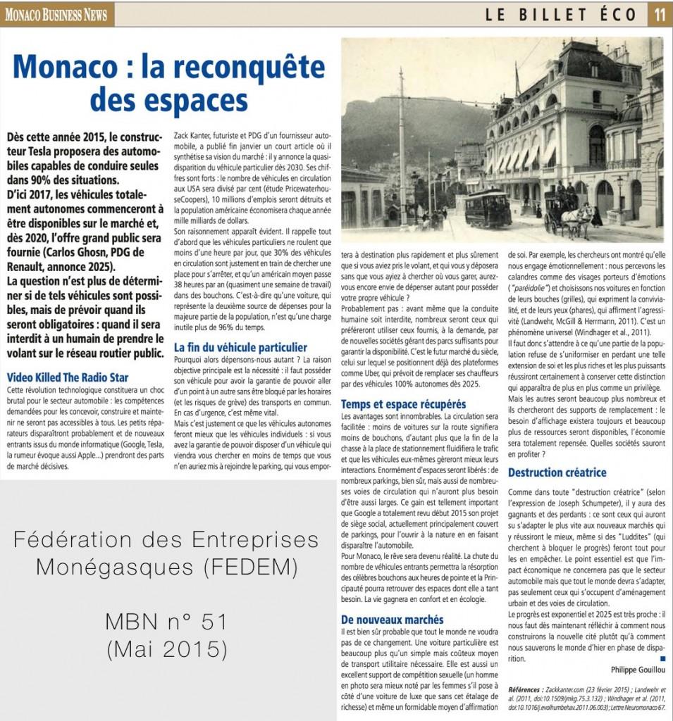 Monaco : la reconquete des espaces