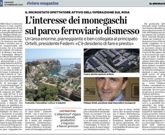 Presse : Interview du Président dans Il Secolo XIX