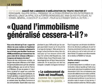 Presse : Interview du Président dans Monaco Hebdo