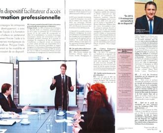 Presse : Interview du Président dans Monaco Economie sur la Formation Professionnelle