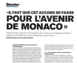 Presse : Interview du Président dans le Monaco Hebdo spécial Europe
