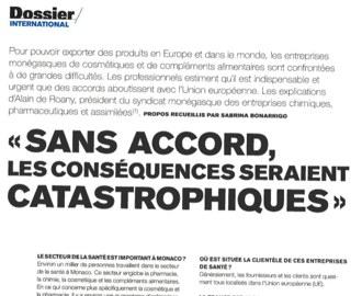 Presse : Interview d\'Alain de Roany (SMEICPA) dans le Monaco Hebdo Spécial Europe