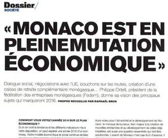 Presse : Interview du Président dans Monaco Hebdo : \