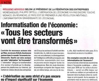 Presse : Interview du Président dans L\'observateur de Monaco: \