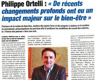 Presse : Interview du Président dans La Gazette de Monaco sur le bien-être au travail