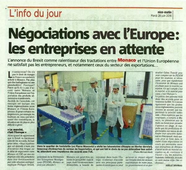 Monaco-Matin-interview-President-280616-negociations-UE-600
