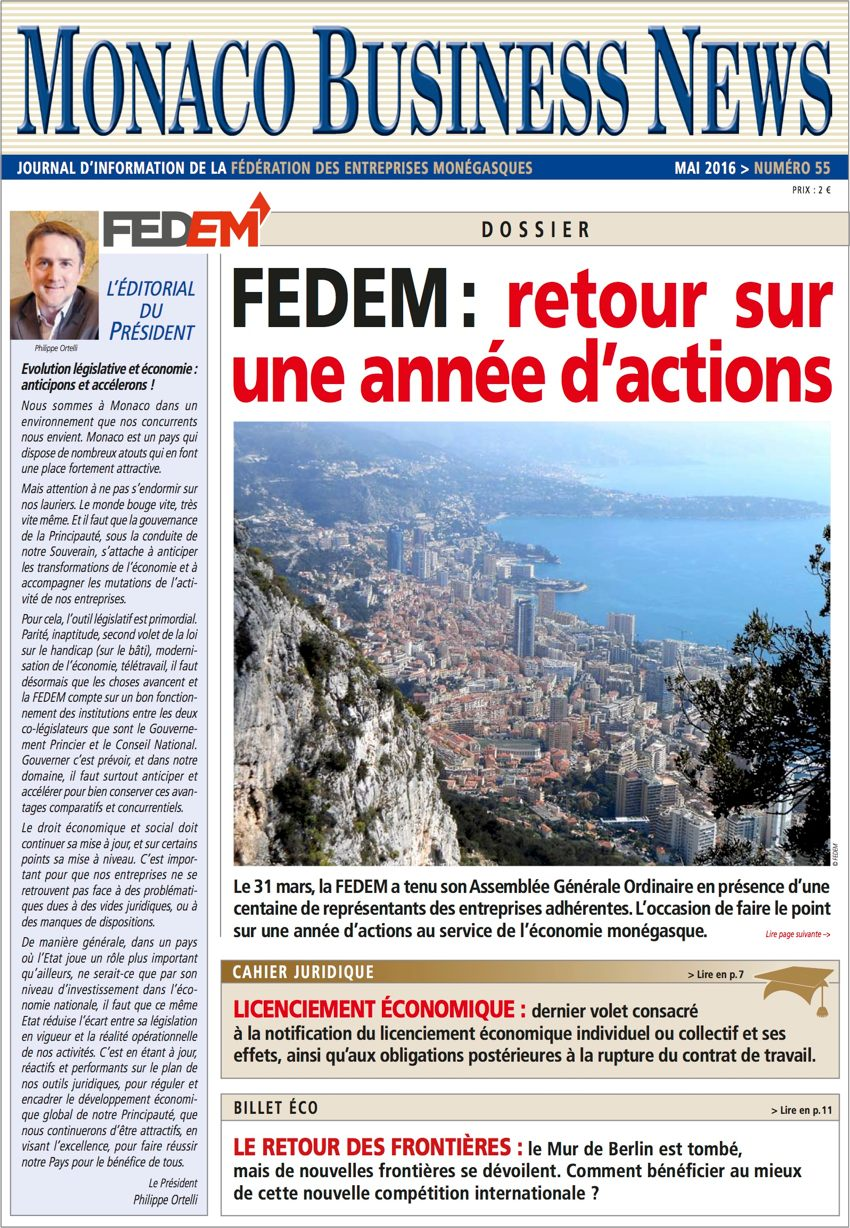 Monaco Business News 55 (Mai 2016)