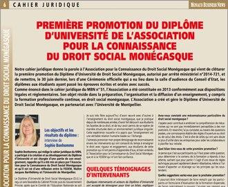 Cahier Juridique MBN 56 (juillet 2016)