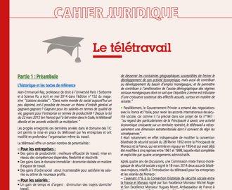 Cahier Juridique MBN 57 (octobre 2016)