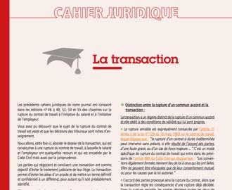 Cahier Juridique MBN 58 (décembre 2016)