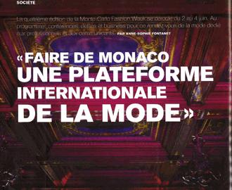 Presse : La Fashion Week 2016 de la Chambre Monégasque de la Mode dans Monaco Hebdo