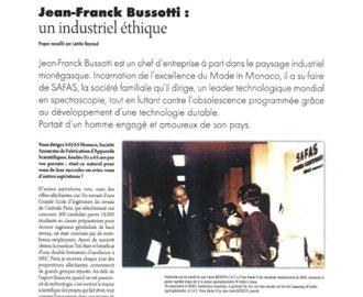 Presse : Interview de JF Bussotti (UNIMET) dans Monaco Economie