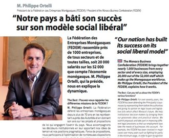Interview du Président dans The Best of Monaco 2017 (français - anglais)