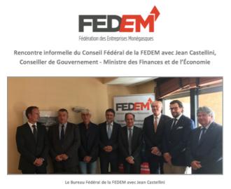 Communiqué : Rencontre du Conseil Fédéral avec Jean Castellini, Conseiller-Ministre des Finances