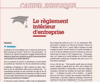 Cahier Juridique MBN 60 (Eté 2017)