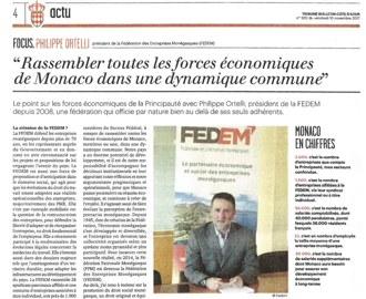 Presse : Interview du Président dans La Tribune Bulletin Côte d\'Azur