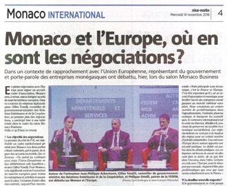 Nice Matin : Conférence-débat au Salon Monaco Business \
