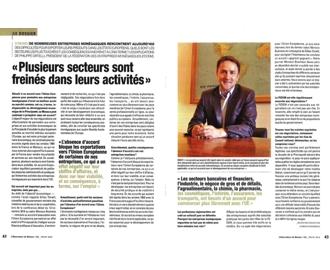 Presse : Interview du Président dans L\'Observateur de Monaco sur les négociations avec l\'Union Européenne