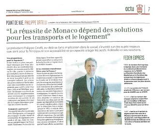 Presse : Interview du Président dans La Tribune Bulletin Côte d\'Azur sur les transports et le logement des actifs