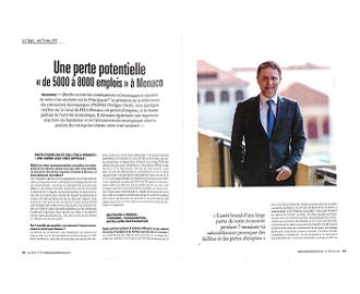 Presse : Interview du Président dans L\'Observateur de Monaco sur les conséquences économiques et sociales de la crise sanitaire liée au Covid-19