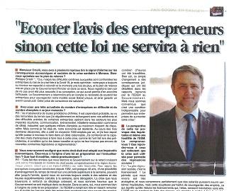 Interview du Président de la FEDEM dans La Principauté
