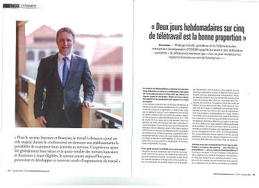 """Interview du Président dans L\'Observateur de Monaco : """"Deux jours hebdomadaires sur cinq de télétravail est la bonne proportion"""""""