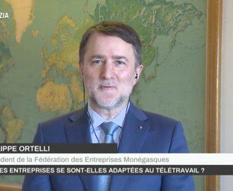 Interview du Président de la FEDEM sur Monaco Info à propos du télétravail
