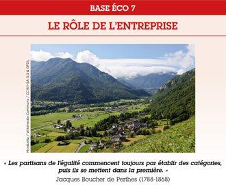 BASE ECO 7 : Le rôle de l\'entreprise