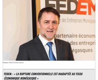 Interview du Président dans L\'Observateur de Monaco sur la rupture conventionnelle du contrat de travail