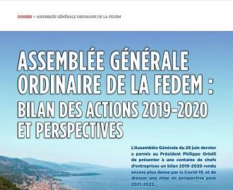 Assemblée Générale du 29 juin 2021 : Focus sur les actions de la FEDEM en 2019-2020 et perspectives