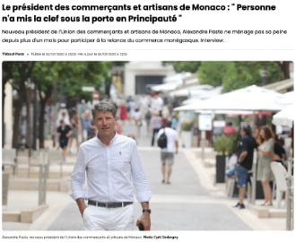 UCAM : Interview d\'Alexandre Pasta dans Monaco Matin