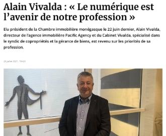 CIM : Interview d\'Alain Vivalda dans La Gazette de Monaco